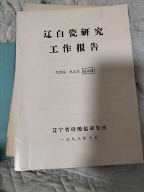 辽白瓷研究工作报告