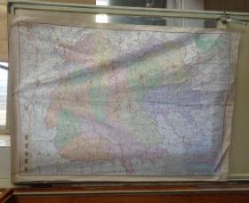 湖南省地图(布面) 2开或4开大小  没有具体出版时间   货号:第38书架—A层