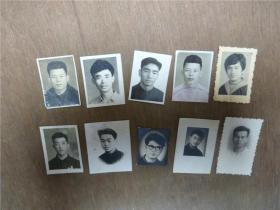 老照片   男士登记照共10张   略有大小