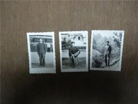 老照片     文革军人全身照共3张   略有大小