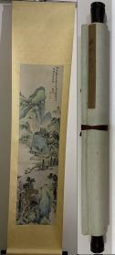 清代-杨采-《青绿山水》
