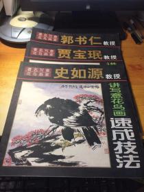 著名写意花鸟画家 (史如源.郭书仁.贾宝珉)教授讲写意花鸟画速成技法(3本合售)