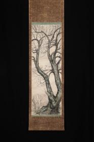 回流字画 回流书画《樱树》日本回流字画 日本回流书画