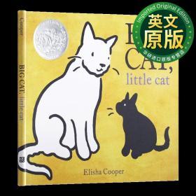 大猫小猫 英文原版 Big Cat Little Cat 2018年凯迪克银奖绘本 精装