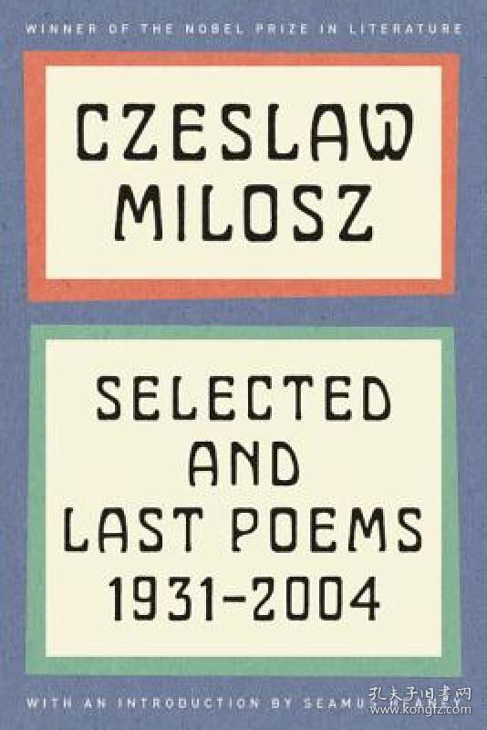预售 英文预定 Selected and Last Poems 1931-2004