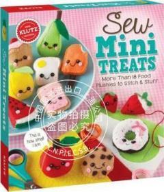 [全新正版]现货 儿童手工书:缝制玩偶食物 英文原版 亲子互动书籍 Sew Mini Treats