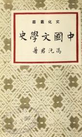 【复印件】民国刊:中国文学史,原书共1册,冯沅君著。本店此处销售的为该版本的彩色高清、无线胶装本。