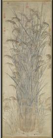 【复印件】仿真图轴:嘉禾图轴,元人绘,纵:73.17厘米,横:27.4厘米