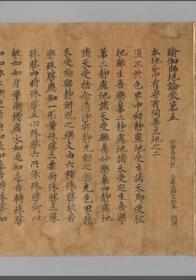 【复印件】奈良写:瑜伽师地论,100卷存卷5,释玄奘奉诏译,本店此处销售的为该版本的长卷