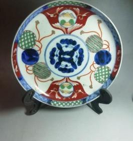 特价民国时期的日本瓷五彩盘-176165