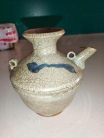 釉水一流明代青花瓷茶壶