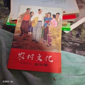 。创刊号农村文化 1966年