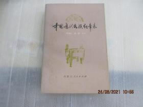 中国历代各族纪年表