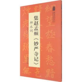 集赵孟頫《妙严寺记》 柳永词陆有珠安徽美术出版社9787539893082艺术