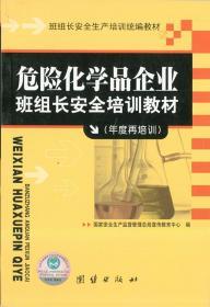 危险化学品企业班组长安全培训教材(年度再培训)/团结出版社/全新正版