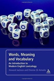 Words Meaning And Vocabulary 2nd Edition: An Introduction T