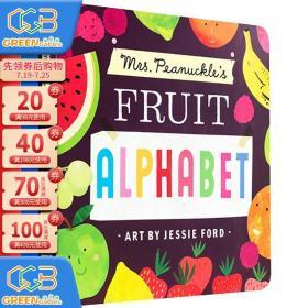 Mrs. Peanuckle's Fruit Alphabet 彼勒芙夫人的水果字母表 纸板书 英文原版绘本 科普系列 儿童认知识物!