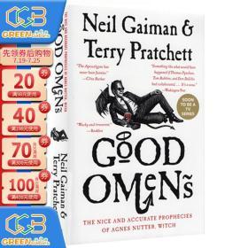 好兆头 英文原版 同名美剧小说 Good Omens 魔鬼版 善与恶的预言 Neil Gaiman and Terry Pratchett!