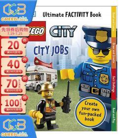英文原版DK LEGO City City Jobs Ultimate Factivity Book 乐高城市 儿童益智游戏书 培养动手能力!