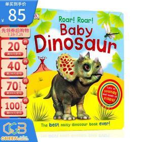 英文原版 DK Roar! Roar! Baby Dinosaur 大开本纸板书 翻翻书 发声书 DK出品 儿童英语启蒙早教绘本图画书!