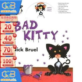 英文原版绘本 Bad Kitty 小坏猫 附CD 儿童英语启蒙图画书 亲子家 小学英语阅读提升!