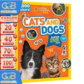 英文原版National Geographic Kids Cats And Dogs Sticker Bind Up 美国国家地理含贴纸2000 儿童百科书 动物系列贴纸书!