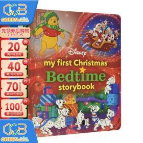 英文原版 My First Disney Christmas Bedtime Storybook 圣诞节睡前故事 6个故事合集 精装全彩插图!