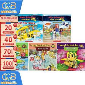 英文原版绘本 神奇校车TV版 5册合售 The Magic School Bus 分级阅读读物 初级科普故事书!
