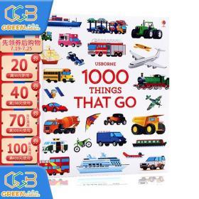 英文原版Usborne 1000 Things that go 交通工具儿童认知识物早教益智科普 百科课外读物 精装大开图画书!