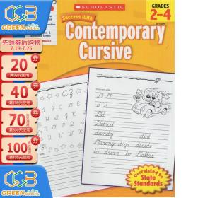 学乐成功系列 Scholastic Success with Contemporary Cursive Grades 2–4 单词连写!