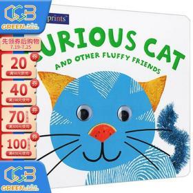 英文原版 儿童低幼启蒙绘本 Alphaprints Curious Cat 手指印触摸大本纸板书 英文启蒙 亲子互动 Roger Priddy!