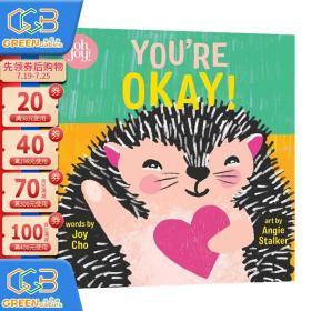 英文原版 You're Okay! An Oh Joy! Story系列 没关系 纸板书 翻翻书 幼儿情感情绪认知启蒙绘本治愈系图画书Joy Cho!