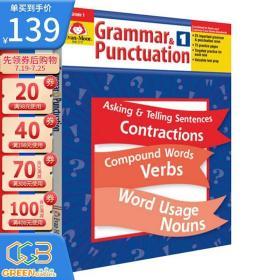 英文原版 Grammar & Punctuation Grade 1 语法与标点练习册 一年级 美国加州教辅 Evan Moor!