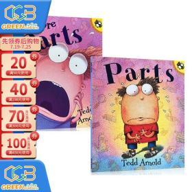 英文原版绘本 Parts 系列2册合售 Fly Guy 苍蝇小子同作者Tedd Arnold 幽默逗趣全彩漫画绘本故事书!