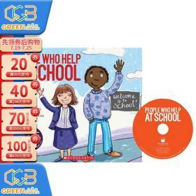 英文原版 Cantata Learning系列 People Who Help at School Scholastic 校园工作者 绘本附CD 歌谣学英语!
