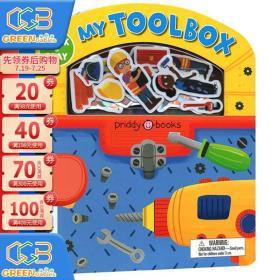英文原版 Stick and Play My Toolbox 边玩边学 儿童认知启蒙 亲子图画故事 附场景人物贴纸 Roger Priddy!