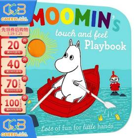英文原版绘本 Moomin's Touch and Feel Playbook 姆明 手指触摸翻翻书 亲子互动 Tove Jansson!