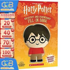 英文原版 Harry Potter Squishy Bravery and Friendship 哈利波特 解压书 友情与勇气 儿童科幻故事小说读物!