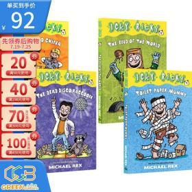 英文原版 Icky Ricky系列 4册 儿童章节桥梁插图 儿童漫画小说 小学生英文课外读物!