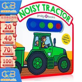 Noisy Tractor Sound Book 拖拉机 挖掘机 交通工具 纸板操作书 发声书 英文原版!
