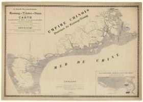 古地图1901 广州湾(含海口城郊图)。纸本大小68.29*95.61厘米。宣纸艺术微喷复制。