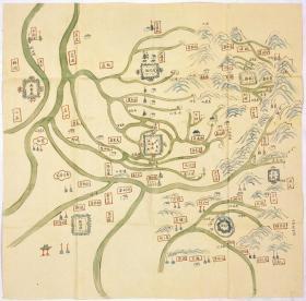 古地图1906 彰徳营舆图。纸本大小69.42*70.41厘米。宣纸艺术微喷复制