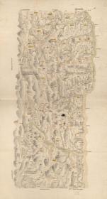 古地图1902 宾州厅乡社全图 光绪二十八年。纸本大小66.46*122.49厘米。宣纸艺术微喷复制