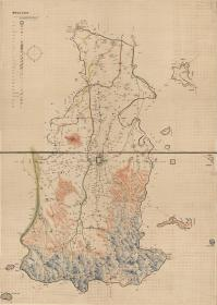 古地图1902 安阳县全境舆图 光绪二十八年前。纸本大小118.65*166.23厘米。宣纸艺术微喷复制