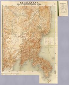 古地图1904 黑龙会编纂满韩新图。纸本大小129.7*158.76厘米。宣纸艺术微喷复制