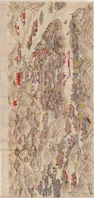 古地图 清 管念慈 承德热河行宫全图纸本。纸本大小150.8*316.4厘米。宣纸艺术微喷复制。