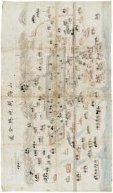 古地图1901 山海关地舆全图。纸本大小42.6*72.64。宣纸艺术微喷复制