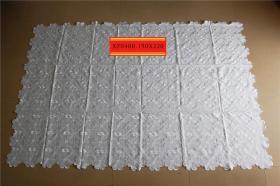 库存外贸出口抽纱刺绣桌布台布B3CA-040a.150x220