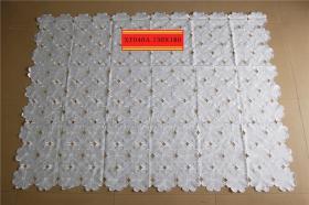 库存外贸出口抽纱刺绣桌布台布B3CA-040b.130x180