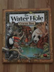 The Water Hole  精装本 一湾水洼与动物们的命运,环保题材,画面华丽繁复,字少,适合启蒙